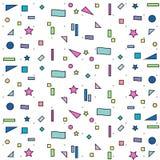 geometrisches Muster auf weißem Hintergrund Lizenzfreies Stockfoto