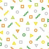 Geometrisches Muster, das aus verschiedenen Zahlen besteht Stockfotografie