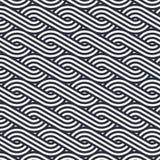 Geometrisches Muster, das lineare Kurve des Streifens oder Wellenhintergrund wiederholt stock abbildung