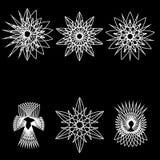 Geometrisches Muster der Astrologie gesetztes pentogramm Stockbild