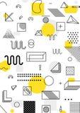 Geometrisches Muster der bunten Tendenz Lizenzfreie Stockfotos