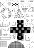 Geometrisches Muster der bunten Tendenz Stockfoto
