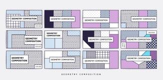 Geometrisches Muster der bunten Tendenz Lizenzfreies Stockfoto