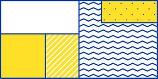 Geometrisches Muster der bunten Tendenz Lizenzfreies Stockbild