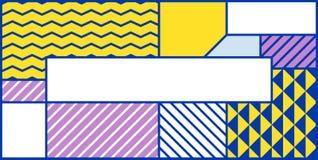 Geometrisches Muster der bunten Tendenz Lizenzfreie Stockfotografie