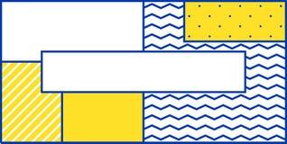 Geometrisches Muster der bunten Tendenz Lizenzfreie Stockbilder