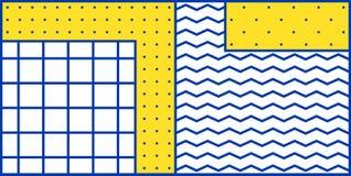 Geometrisches Muster der bunten Tendenz Stockfotos