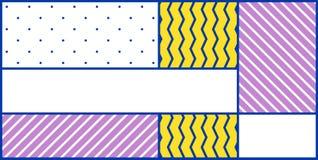 Geometrisches Muster der bunten Tendenz Stockbild