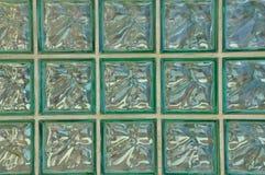 Geometrisches Muster der Glasblockwand Stockfotografie