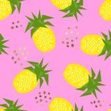 Geometrisches Muster der nahtlosen Ananas, Vektorillustration Stockbild