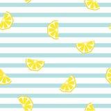 Geometrisches Muster der nahtlosen gestreiften Zitrone, Vektorillustration Stockfotos