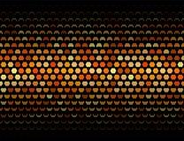 Geometrisches Muster der Platte von schließend Hexagonen Lizenzfreie Stockfotografie
