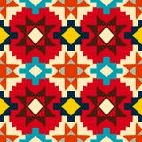 Geometrisches Muster des amerikanischen Ureinwohners Stockbilder