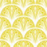 Geometrisches Muster des Art- DecoVektors im hellen Gelb Stockfoto