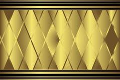 Geometrisches Muster des Golddiamanten Lizenzfreie Stockbilder