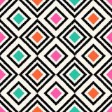 Geometrisches Muster des nahtlosen Gekritzels Stockfotografie