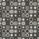 Geometrisches Muster des nahtlosen Vektors mit endlosem Pastellhintergrund der Kreise mit der gezeichneten Hand maserte geometris Stockbilder