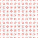 Geometrisches Muster des nahtlosen Vektors mit endlosem Pastellhintergrund der Kreise mit der gezeichneten Hand maserte geometris Lizenzfreie Stockbilder