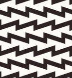 Geometrisches Muster des nahtlosen Zickzacks Lizenzfreie Stockfotografie