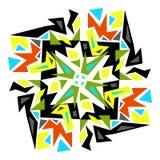 Geometrisches Muster Gelb, schwarz, rot, blau Abstraktion - Stoc Lizenzfreie Stockbilder