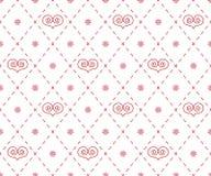 Geometrisches Muster mit abstrakten Herzen Lizenzfreies Stockfoto