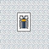 Geometrisches Muster mit einem Käfer in der Mitte Stockfotos