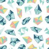 Geometrisches Muster mit Kristallen in der Polygonart Lizenzfreie Stockfotos