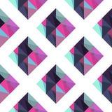 Geometrisches Muster mit rombus lizenzfreie abbildung