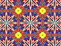 Geometrisches Muster mit vielen Blumenblättern stockbilder