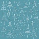 Geometrisches Muster mit Weihnachtsbäumen Lizenzfreie Stockbilder