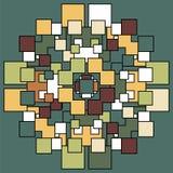 Geometrisches Muster Quadratischer Musterhintergrund Lizenzfreies Stockbild