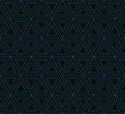 Geometrisches Muster von genisteten Dreiecken Lizenzfreies Stockfoto