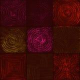 Geometrisches Muster von glühenden Quadraten Stockbild