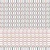 Geometrisches Muster von Ineinander greifenlinien Stockbilder