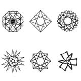 Geometrisches Musterikonenstern Pentagram-Astrologieemblem Stockbilder
