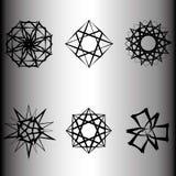 Geometrisches Musterikonenstern Pentagram-Astrologieemblem Stockfotografie