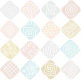 Geometrisches Musterminzenplätzchen Stockfoto