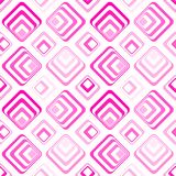 Geometrisches Musterrosa der nahtlosen Quadrate Lizenzfreies Stockbild
