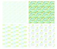 Geometrisches Musterset lizenzfreie abbildung