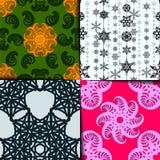 Geometrisches Musterset Lizenzfreie Stockfotos