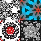 Geometrisches Musterset Lizenzfreies Stockfoto