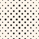Geometrisches nahtloses Halbtonmuster des Vektors mit Kreisen Stockfotos
