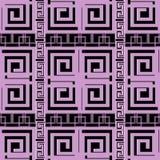 Geometrisches nahtloses Muster der eleganten violetten griechischen Schlüsselwindung mod Lizenzfreies Stockbild