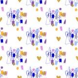 Geometrisches nahtloses Muster der modischen Mode, modernes Grafikdesign, Hintergrund wiederholend Lizenzfreie Stockbilder