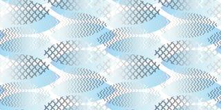 Geometrisches nahtloses Muster der Wasserbeschaffenheits-Zusammenfassung Stockfotografie