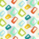 Geometrisches nahtloses Muster der Weinlese 60s lizenzfreie abbildung