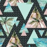 Geometrisches nahtloses Muster des abstrakten Sommers Stockfotos