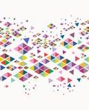 Geometrisches nahtloses Muster des modischen Weinlesehippies. Stockfotos