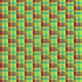 Geometrisches nahtloses Muster des Quadrats, abstrakter Hintergrund, optische Täuschung Kariertes Design, helle mehrfarbige Quadr Stockbild