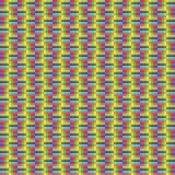 Geometrisches nahtloses Muster des Quadrats, abstrakter Hintergrund, optische Täuschung Kariertes Design, helles mehrfarbiges Stockbild